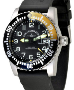 Zeno Watches - Air Plane Diver Quartz Yellow / Black