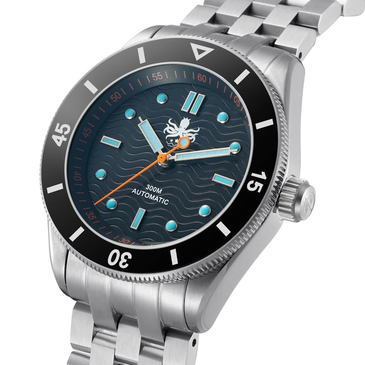 Phoibos wave master py009c 300mtr automatic dive watch black doubleo dive watches for Under water watches